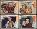 "Movie Posters:Western, Wagon Wheels (Paramount, 1934). Lobby Cards (4) (11"" X 14""). Western.. ... (Total: 4 Items)"