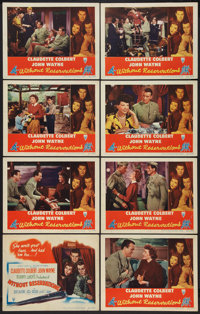 "Without Reservations (RKO, 1946). Lobby Card Set of 8 (11"" X 14""). Comedy. ... (Total: 8 Items)"
