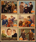 "Maker of Men (Columbia, 1931). Title Lobby Card and Lobby Cards (5) (11"" X 14""). Sports. ... (Total: 6 Items)"