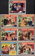"""Movie Posters:Drama, Coast Guard (Columbia, 1939). Title Lobby Card and Lobby Cards (6) (11"""" X 14""""). Drama.. ... (Total: 7 Items)"""