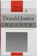 Books:Signed Editions, Donald Justice. A Donald Justice Reader, Selected Poetry and Prose. Hanover, New Hampshire: Middlebury College P...