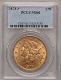 Liberty Double Eagles, 1878-S $20 MS61 PCGS....
