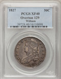 Bust Half Dollars: , 1827 50C Square Base 2 XF40 PCGS. O-129. Ex: Witham Collection.PCGS Population (121/1304). NGC Census: (66/1601). Mintage...