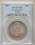 Bust Half Dollars, 1827 50C Curl Base 2 VF25 PCGS. O-147. Ex: Witham Collection. PCGSPopulation (4/86). (#6145)...
