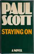 Books:First Editions, Paul Scott. Staying On. London: Heinemann, [1977]. Firstedition, first printing. Publisher's original binding and d...