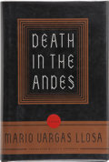 Books:Signed Editions, Mario Vargas Llosa. Death in the Andes. New York: Farrar, Straus & Giroux, [1996]. First edition in English, first p...
