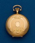 Timepieces:Pocket (post 1900), Hampden, 3/0 Size, Gold Filled Hunters Case. ...