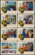 "Movie Posters:Adventure, Way of a Gaucho (20th Century Fox, 1952). Lobby Card Set of 8 (11""X 14""). Adventure.. ... (Total: 8 Items)"