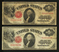 Fr. 36 and 39 $1 1917 Legal Tender Notes Very Good