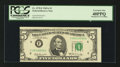 Error Notes:Miscellaneous Errors, Fr. 1970-F $5 1969A Federal Reserve Note. PCGS Extremely Fine 40PPQ.. ...