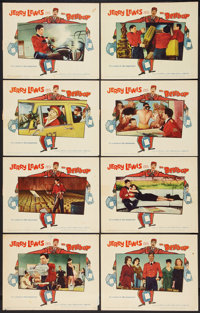 "Jerry Lewis Lot (Paramount, 1960-1961). Lobby Card Set of 8 and Lobby Cards (6) (11"" X 14""). Comedy. ... (Tota..."