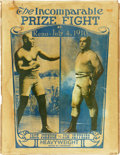 "Boxing Collectibles:Memorabilia, 1910 Johnson vs. Jeffries ""The Incomparable Prize Fight"" Poster...."
