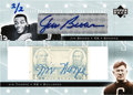 Football Cards:Singles (1970-Now), 2005 Upper Deck Jim Brown and Jim Thorpe Dual Signed Card, 2/2....