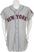 Baseball Collectibles:Uniforms, 1963 New York Mets Game Jersey....