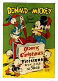 Golden Age (1938-1955):Cartoon Character, Donald and Mickey Merry Christmas 1947 (K. K. Publications, Inc.,1947) Condition: VG/FN....