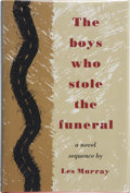 Books:Signed Editions, Les Murray. The Boys Who Stole the Funeral, A Novel Sequence. New York: Farrar Straus Giroux, [1980]. First American...