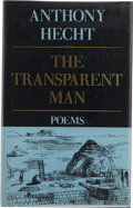 Books:Signed Editions, Anthony Hecht. The Transparent Man. New York: Alfred A. Knopf, 1990. First edition. Signed by the author on the ...
