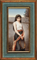 Decorative Arts, Continental:Other , A FRAMED GERMAN PORCELAIN PLAQUE . Attributed to Hutschenreuther,Hohenberg, Germany, circa 1890. Marks: impressed mark 31...