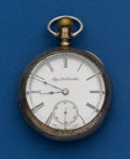 Timepieces:Pocket (post 1900), Elgin, Coin Silver, 11 Jewel, 18 Size. ...