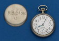 Timepieces:Pocket (post 1900), Elgin, 19 Jewel, 16 Size, B.W. Raymond. ...