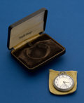 Timepieces:Pocket (post 1900), South Bend, 12 Size, 21 Jewel, Studebaker With Original Box. ...