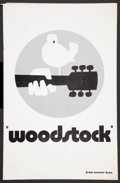 "Movie Posters:Rock and Roll, Woodstock Lot (Warner Brothers, 1970). Pressbook (Multiple Pages)(11"" X 17""), and Advertising Supplement (11"" X 17""). Rock ...(Total: 2 Items)"