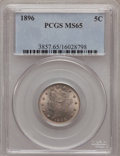 Liberty Nickels: , 1896 5C MS65 PCGS. PCGS Population (68/8). NGC Census: (48/4).Mintage: 8,842,920. Numismedia Wsl. Price for problem free N...