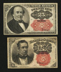 Fractional Currency:Fifth Issue, Two Fifth Issue Notes.. ... (Total: 2 notes)