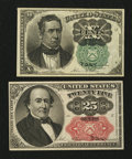 Fractional Currency:Fifth Issue, Two Fifth Issue Notes Choice About New.. ... (Total: 2 notes)