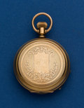 Timepieces:Pocket (post 1900), Elgin, 6 Size, Gold Filled Hunters Case. ...