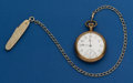 Timepieces:Pocket (post 1900), Waltham, 15 Jewel, 16 Size With Chain & Knife. ...