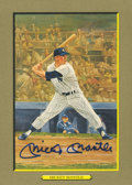 Autographs:Post Cards, Mickey Mantle Signed Perez Steele Greatest Moment Card....