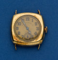 Timepieces:Wristwatch, Patek Philippe, Early Gold Wristwatch, circa 1925. ...