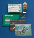 Timepieces:Wristwatch, Rolex, Ref. 162333, Gent's Two Tone, Datejust, circa 1987. ...