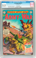 Golden Age (1938-1955):War, Our Army at War #4 (DC, 1952) CGC FN- 5.5 Off-white pages....
