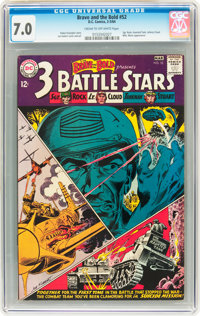 The Brave and the Bold #52 - 3 Battle Stars (DC, 1964) CGC FN/VF 7.0 Cream to off-white pages