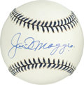 Baseball Collectibles:Balls, Joe DiMaggio Single Signed Baseball....