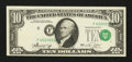 Error Notes:Shifted Third Printing, Fr. 2022-F $10 1974 Federal Reserve Note. About Uncirculated.. ...