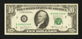 Error Notes:Ink Smears, Fr. 2025-B $10 1981 Federal Reserve Note. Very Fine-ExtremelyFine.. ...