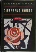 Books:First Editions, Stephen Dunn. Different Hours. Poems. New YorkLondon: W. W. Norton & Company, [2000]. First edition.Publisher'...