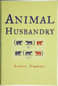 Books:Signed Editions, Laura Zigman. Animal Husbandry. [New York]: The Dial Press, [1998]. First edition. Signed by the author on the tit...