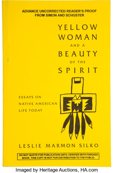 leslie marmon silko yellow w and a beauty of the spirit   books signed editions leslie marmon silko yellow w and a beauty of thespirit