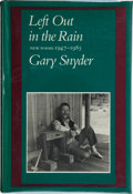 Books:Signed Editions, Gary Snyder. Left Out in the Rain. New Poems 1947-1985. San Francisco: North Point Press, 1986. First edition. ...