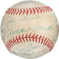 Baseball Collectibles:Balls, 1958 New York Yankees Team Signed Baseball (25 Signatures)....