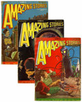 Pulps:Science Fiction, Amazing Stories Group (Ziff-Davis, 1928).... (Total: 10 ComicBooks)