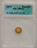 1873 50C Indian Round 50 Cents, BG-1051, Low R.5, MS61 ICG. NGC Census: (0/8). PCGS Population (2/29). (#10880)...(PCGS#...