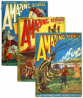 Pulps:Science Fiction, Amazing Stories Group (Ziff-Davis, 1926).... (Total: 3 Items)