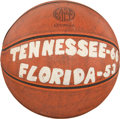 Basketball Collectibles:Balls, 1966-67 Tennessee Game Ball From SEC Championship Season....
