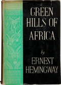 Books:First Editions, Ernest Hemingway. Green Hills of Africa. New York London:Charles Scribner's Sons / Charles Scribner's Sons, Ltd., 1...