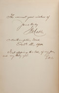 Books:Signed Editions, George W. Cable. Old Creole Days. New York: Charles Scribner's Sons, 1898. Later printing. Inscribed, signed and d...